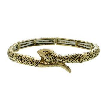 Antique Gold Snake Stretch Bracelet