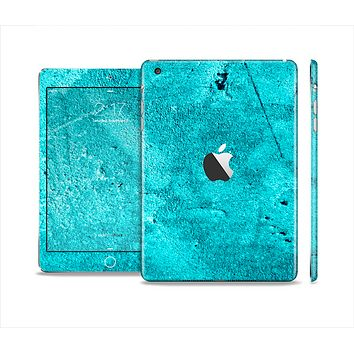 The Vibrant Blue Cement Texture Skin Set for the Apple iPad Mini 4