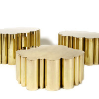 """""""Cloud"""" Tables in Brass by Kam Tin"""