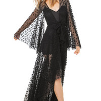 Luck's Out Black Wrap Dress