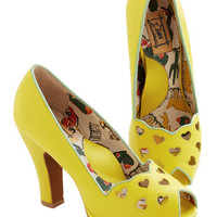 Miss L Fire Statement Lemonade Stand Tall Heel in Zest