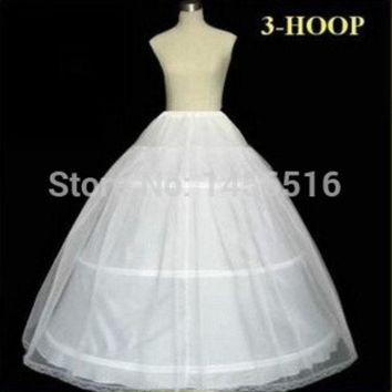 ONETOW Plus size In Stock 2014 Hot Sale 3 Hoop Ball Gown Bone Full Crinoline Petticoats For Wedding Dress Wedding Skirt Accessories Slip = 1932347972