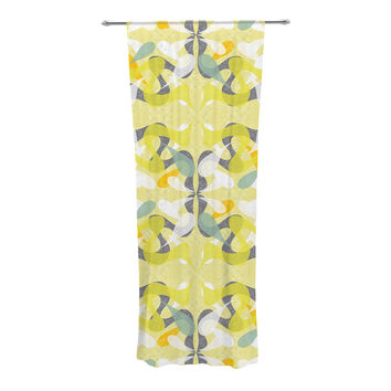 "Miranda Mol ""Spring Flourish"" Decorative Sheer Curtain"