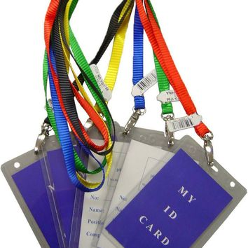 i.d. holder with assorted color lanyards Case of 144