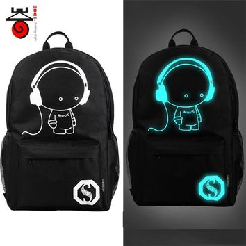 School Backpacks for kids for college Anime Luminous Bags