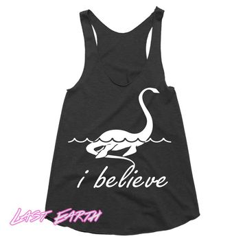 Loch Ness Monster Workout Tank Funny Tanktop Racerback Tank Beach Tank Gifts For Her Dinosaur Tank Run Tank Womens Tank Girls Running Tank