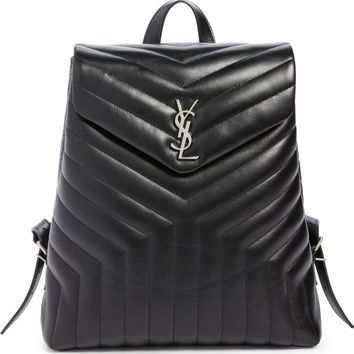 Saint Laurent Medium LouLou Calfskin Leather Backpack | Nordstrom