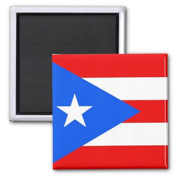 Magnet with Flag of Puerto Rico - USA