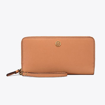 Tory Burch Robinson Passport Continental Wallet