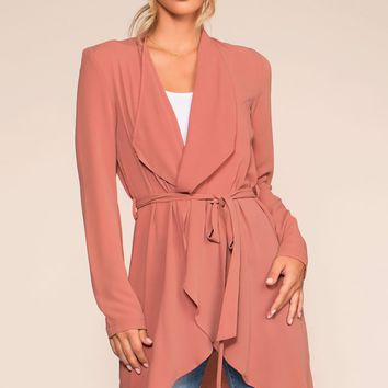 To Bond With Love Wrap Duster - Mauve