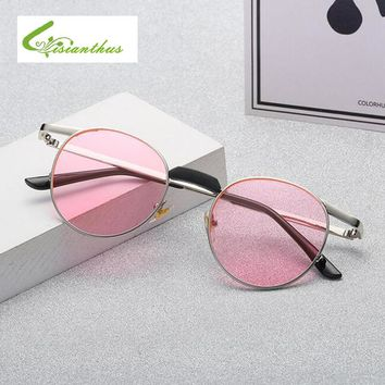 New 2018 Steampunk Sunglasses Women Retro Metal Round Shades Brand Designer Sun Glasses For Women High Quality Eyewear UV400