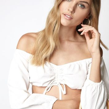 Kendall and Kylie Long Sleeve Cinched Top at PacSun.com