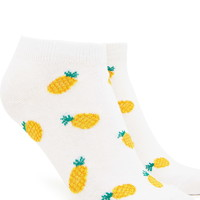 Pineapple Pattern Ankle Socks | Forever 21 - 2000223423