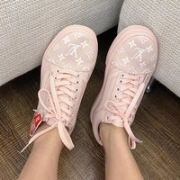 Vans x LV Woman Men Canvas Old Skool Flats Sport Shoes