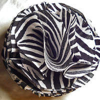 Zebra Fabric Hair or Hat Clip