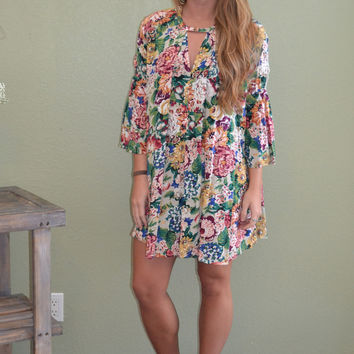 I'll go anywhere with you Floral Print Dress