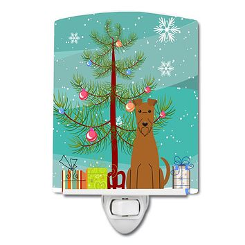 Merry Christmas Tree Irish Terrier Ceramic Night Light BB4187CNL
