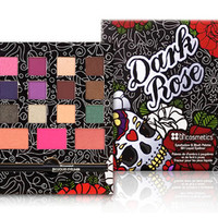 Dark Rose Eyeshadow, Blush and Liquid Eyeliner Palette