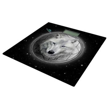 Wolf Moon Bathroom Scale