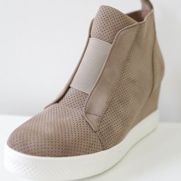 Jessi Sneaker Wedges - Taupe