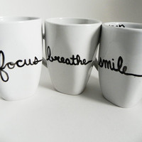 be well  set of three mugs  motivational / by Espressions on Etsy