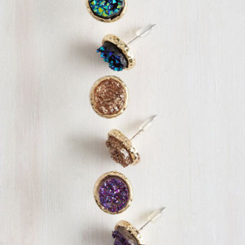 Boho Glimmer All You Got Earring Set by ModCloth