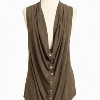 cypress leaf draped vest at ShopRuche.com, Eco friendly Fashion