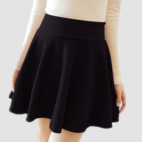 2016 Promotion Direct Selling Natural None Solid Casual Skirt American Apparel Women's Skirt Short Umbrella Plus Size A-line