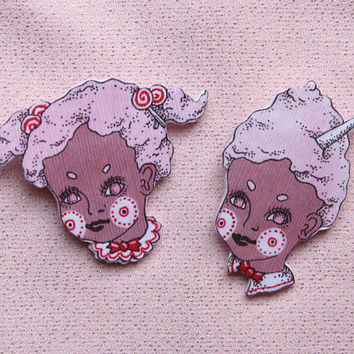 candy couple ~ brooch set