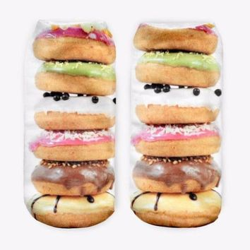 Donuts Tower Ankle Socks