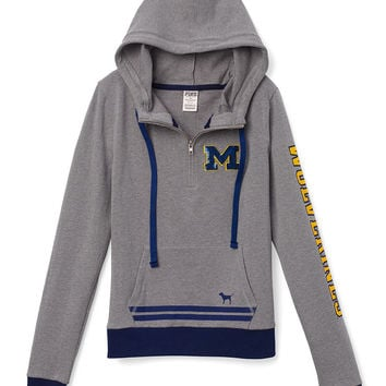 University of Michigan Bling Pullover Hoodie - PINK - Victoria's Secret