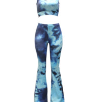 Blue Tie Dye Body Set
