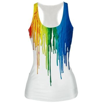 Harajuku Women 3D Tank Tops Cool Skull/Sprite/Dragon Ball Fashion Cool Print Sleeveless Vest Summer Fitness Slim Camisole Vest