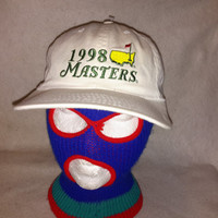 Vintage The Masters PGA  1998 cloth strapback American Needle hat Golf Cap snapback spieth fowler Green Jacket