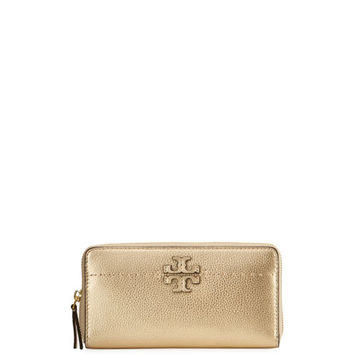 Tory Burch McGraw Metallic Continental Wallet