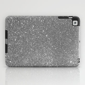 Silver Glitter iPad Case by LookHUMAN