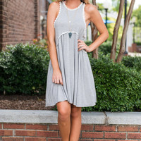 Flower Child Dress, Heather Gray