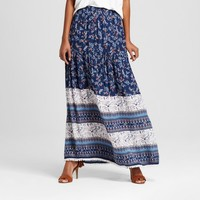 Women's Printed Maxi Skirt With Tassels - Alison Andrews : Target