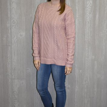 Totally Understand Mauve Sweater
