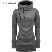 AKSLXDMMD Plus Size S-4XL Sweatshirt Women 2017 New Autumn Truien Dames Bts Kpop Causal Pocket Pullover Sweatshirt Coat LH589