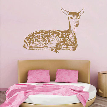 kik2437 Wall Decal Sticker cute deer forest animal children's bedroom living room