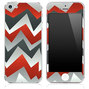 Red Abstract Chevron Pattern Skin for the iPhone 3, 4/4s or 5