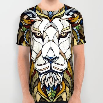 Lion // Animal Poker All Over Print Shirt by Andreas Preis | Society6
