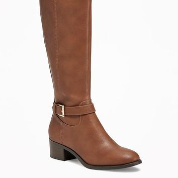 Tall Side-Buckle Riding Boots for Women | Old Navy