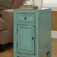 Bayberry Blue One Door One Drawer Cabinet