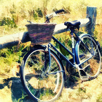 Bike at the Beach-Nantucket Photograph by Tammy Wetzel - Bike at the Beach-Nantucket Fine Art Prints and Posters for Sale