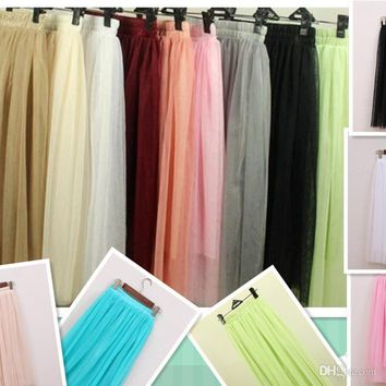 women summer skirt White Tulle Tutu Skirts For Adults Custom Made A-Line Cheap Party Prom Dresses Women Clothing Tulle Skirts