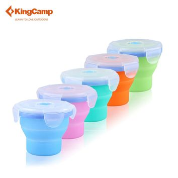 Portable  Silicone  Foldable  Cup with Lid