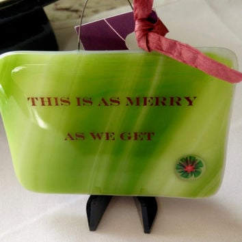 Get Merry Mini Stand-up Plaque