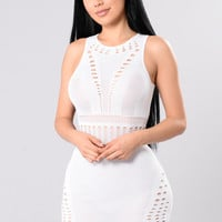 Coming Out Strong Dress - White